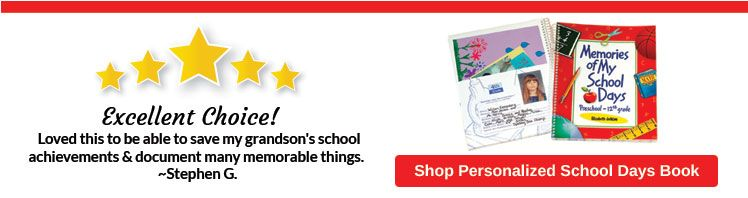 Customer Favorites - Personalized School Days Book