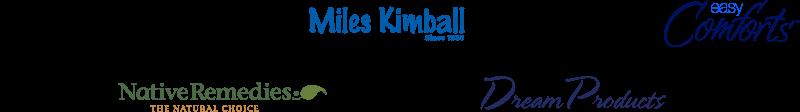 Walter Drake brand logo, Miles Kimball brand logo, Easy Comforts brand logo, Native Remedies brand logo, Dream Products brand logo