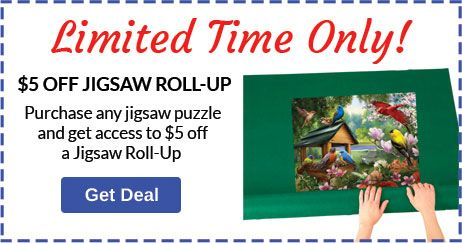 Buy 1 Jigsaw Puzzle, Save $5 on Puzzle Roll Up