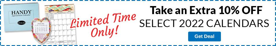 10% OFF Select Calendars & Planners