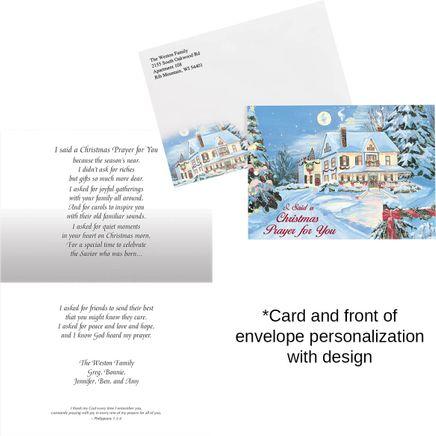 Pers I Said A Christmas Prayer Christmas Card Set of 20-300196