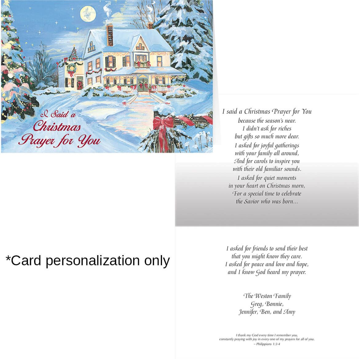 I Said A Christmas Prayer Christmas Card Set of 20-300196