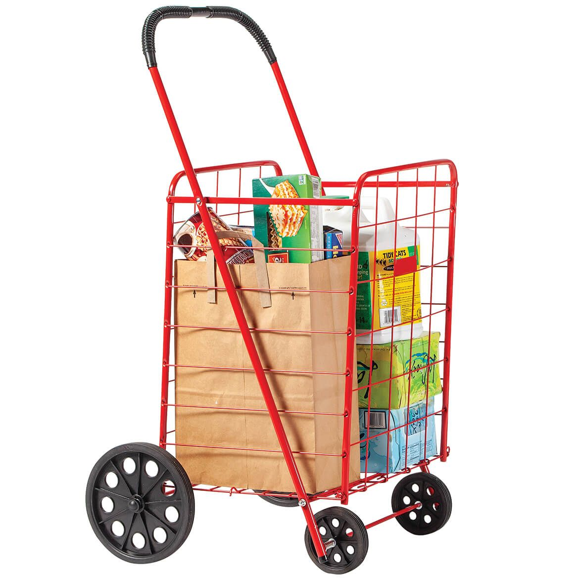 Deluxe Steel Shopping Cart                      XL-303496