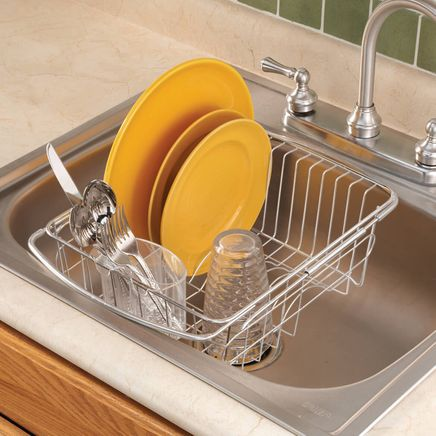 Over The Sink Dish Drainer Rack-305089