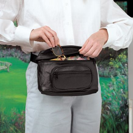 Large Leather Fanny Pack-309912