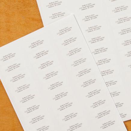 Script Style Return Address Labels - Set of 200-320114