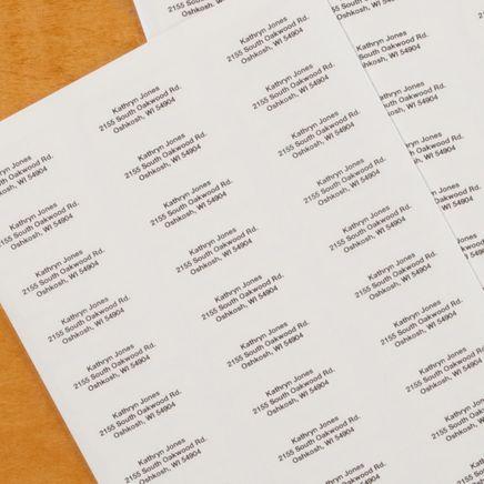 Block Style Return Address Labels - Set of 200-320115