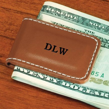 Personalized Leather Magnetic Money Clip-327399