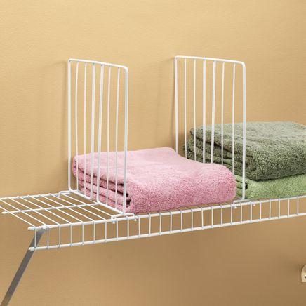 Wire Closet Shelf Dividers - Set Of 4-329893