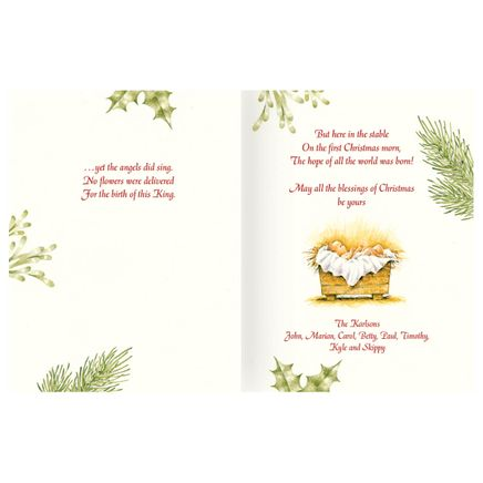 Personalized Christmas Certificate Card Set of 20-334221