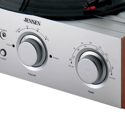 Jensen® 3 Speed Stereo Turntable with Radio-336327