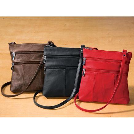 Leather Crossbody Messenger Bag-340055