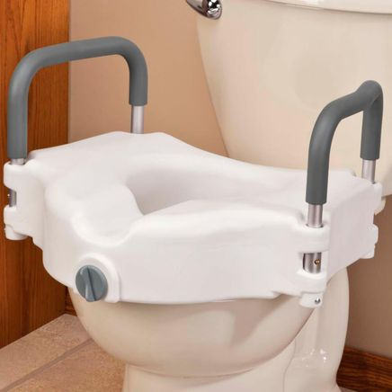 Locking Raised Toilet Seat With Arms-344447