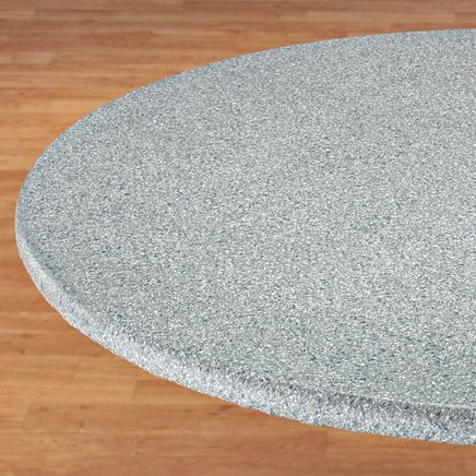 Polished Granite Vinyl Fitted Table Cover-344600