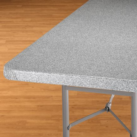 Granite Elasticized Banquet Table Cover-344618