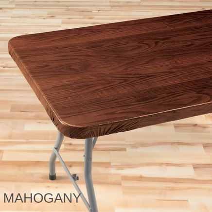 Wood Grain Elasticized Table Cover-344629