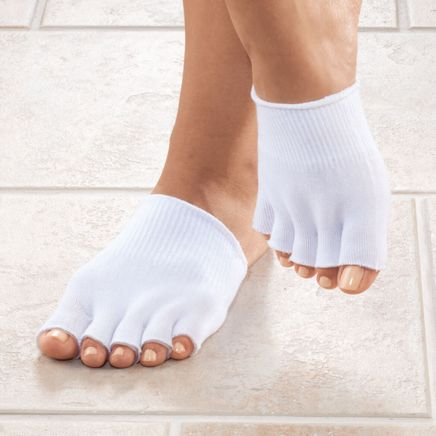 Silver Steps™ Open Toe Gel Socks-345550