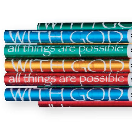 Personalized With God Foil Pencils, Set of 12-346072