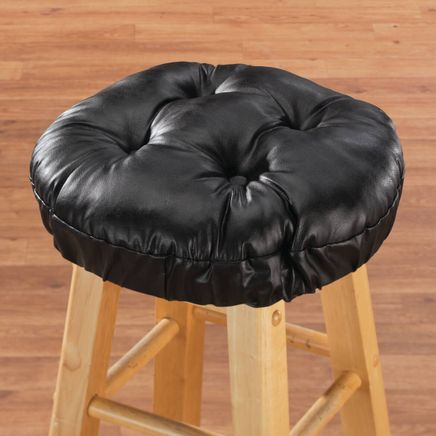 Faux Leather Bar Stool Cushion-347608