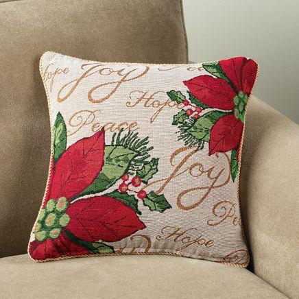 Poinsettia Pillow Cover-349236