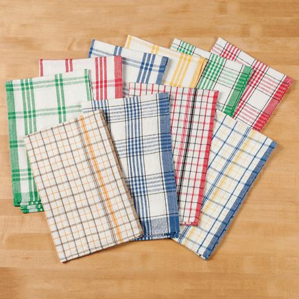 Plaid Kitchen Towels - Set of 10-350528