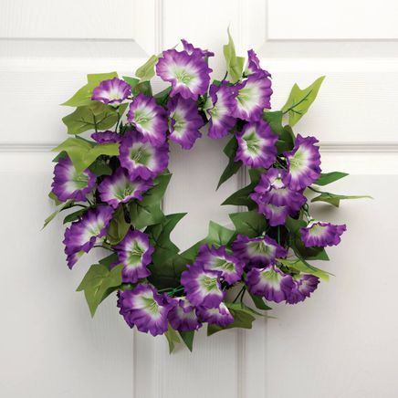 "16"" Purple Petunia Wreath by OakRidge™-350712"