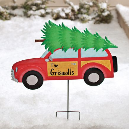 Personalized Woody Wagon Lawn Stake by Fox River Creations™-351621