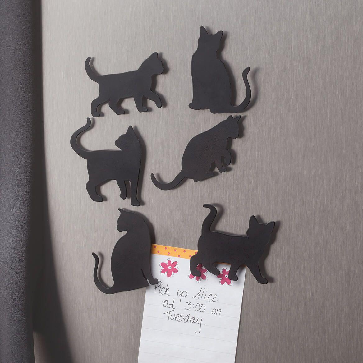 Cat Silhouette Fridge Magnets, Set of 6-351793