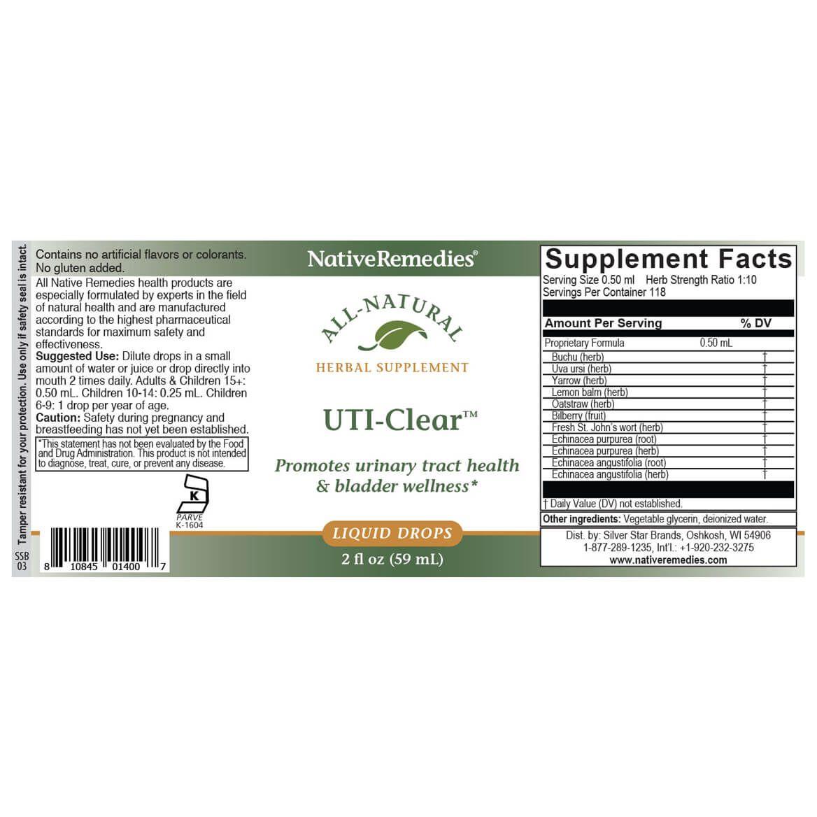 NativeRemedies® UTI-Clear™ - 2 oz.-351840