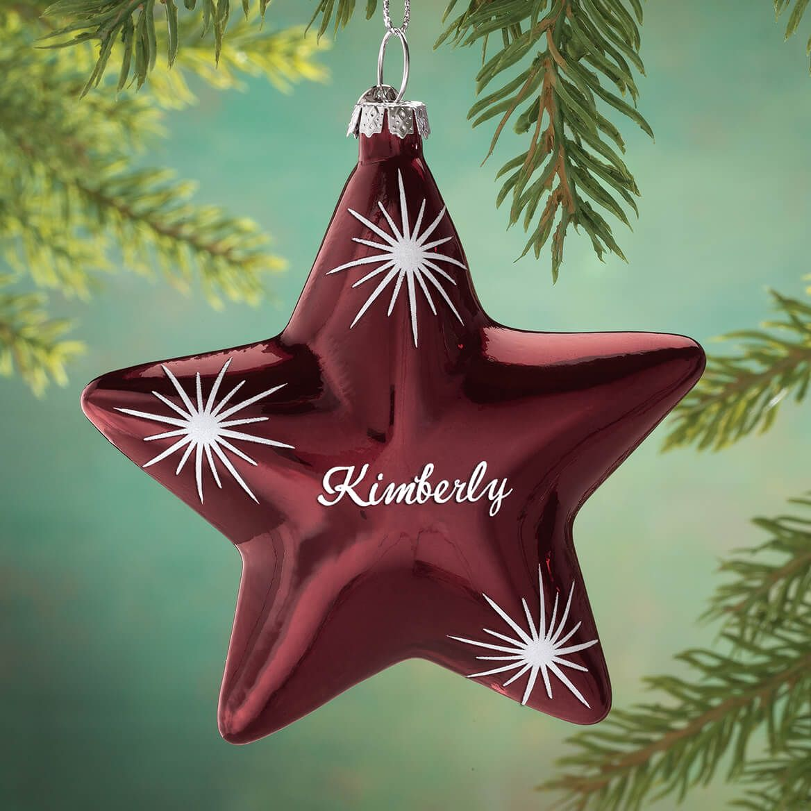 Personalized Christmas Ornaments Fiber Optic Trees