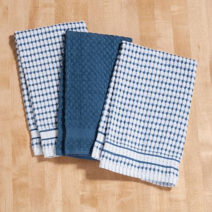 Terry Kitchen Towels, Set of 3-353165