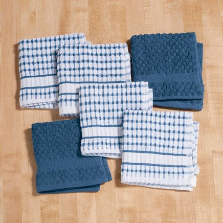 Terry Dish Cloths, Set of 6-353166