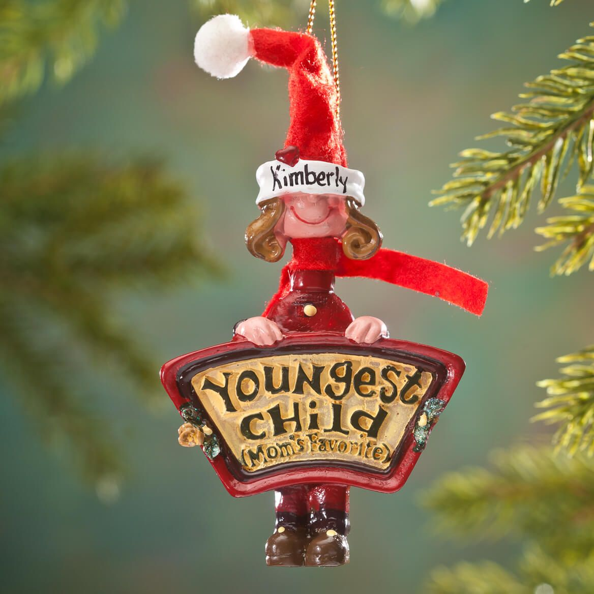Personalized Mom's Favorite Youngest Child Ornament-353220