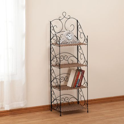 Four Tier Wicker & Metal Shelves by OakRidge™         XL-353922