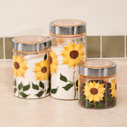 Sunflower Canisters, Set of 3-355808