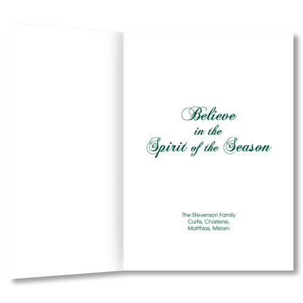 Personalized Believe Christmas Card Set of 20-356026