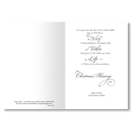 Personalized He is the Way Christmas Card Set of 20-356059