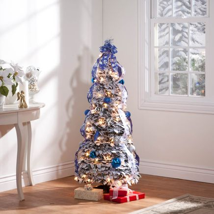 4' Snow Frosted Winter Style Pull-Up Tree by Holiday Peak™-356286