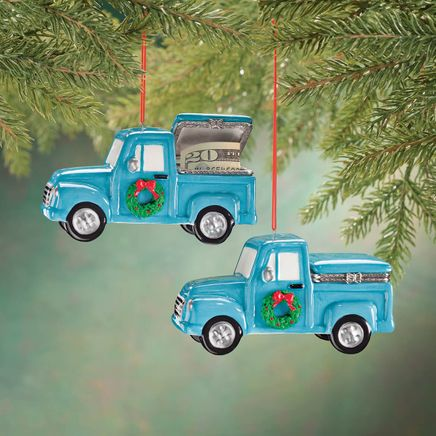 Truck with Wreath Trinket Box Ornament-356327
