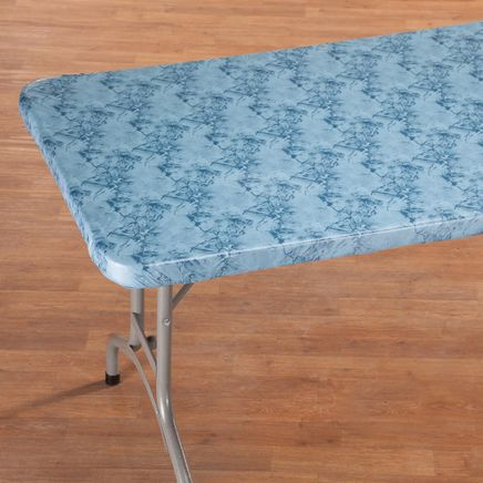 Marbled Elasticized Banquet Table Cover-356493