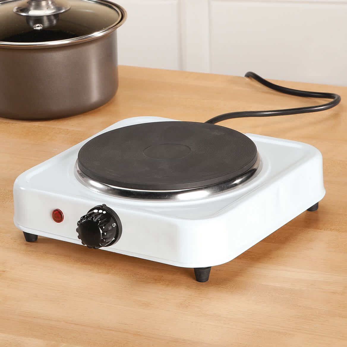 White Solid Single Top Hot Plate by Home Style Kitchen-356738
