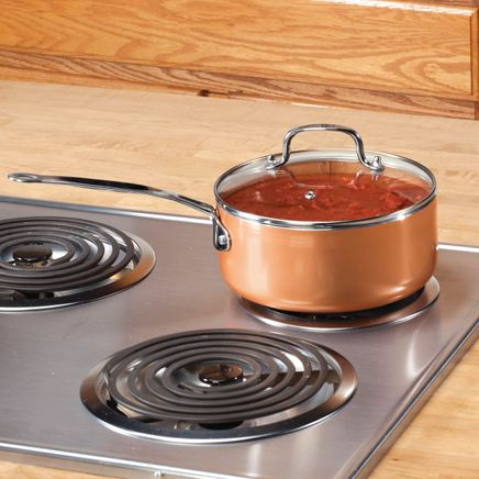 Ceramic Non-Stick Sauce Pan with Lid, 3 Qt.-357616