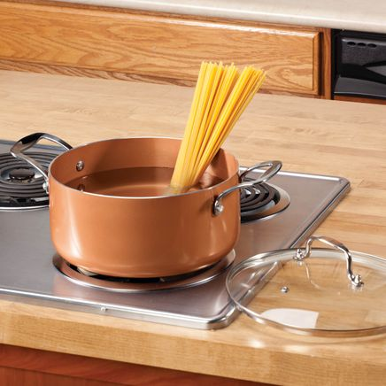 Ceramic Non-Stick Sauce Pan with Lid, 5 Qt.-357619