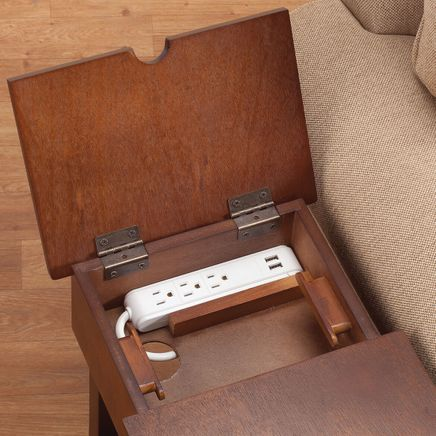 Chairside Table with USB Power Strip by OakRidge™-358129