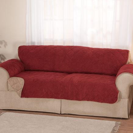 Plush to Suede Waterproof Sofa Protector by OakRidge™-358194