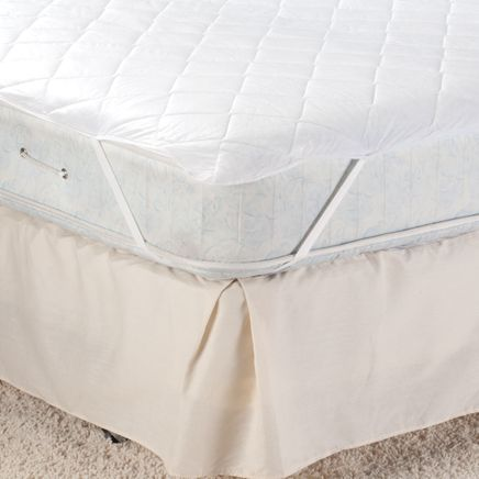 Hypo-Allergenic Quilted Polyester Mattress Pad-358275