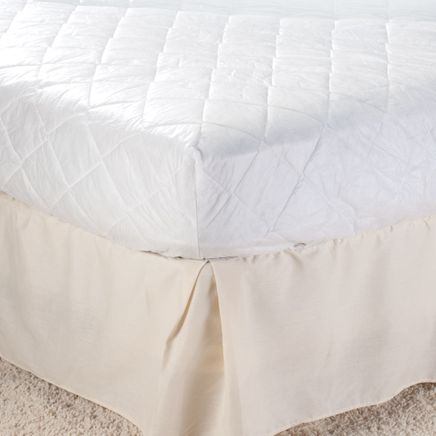 Hypo-Allergenic Polyester Skirted Mattress Pad-358276