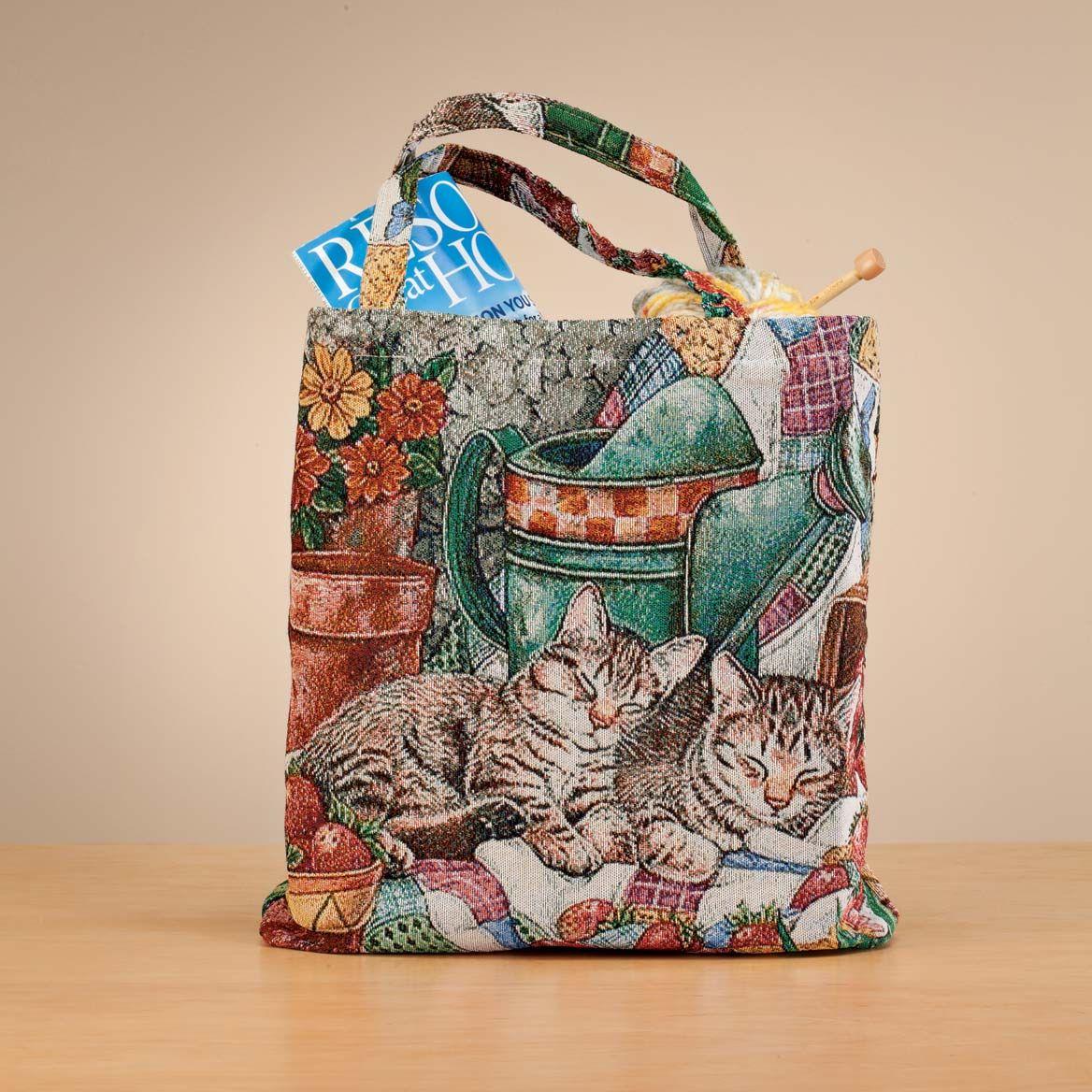 Cat Tapestry Tote Bag-358648