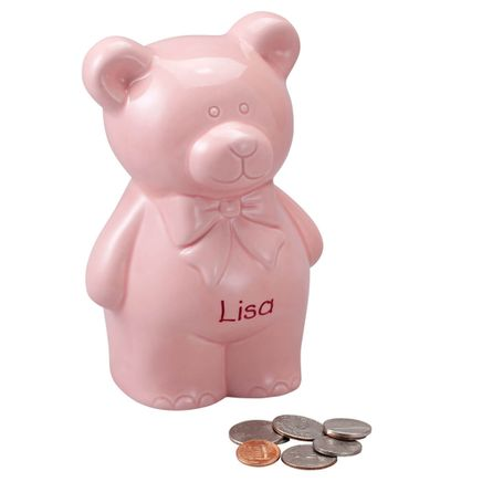 Personalized Teddy Bear Bank-359021