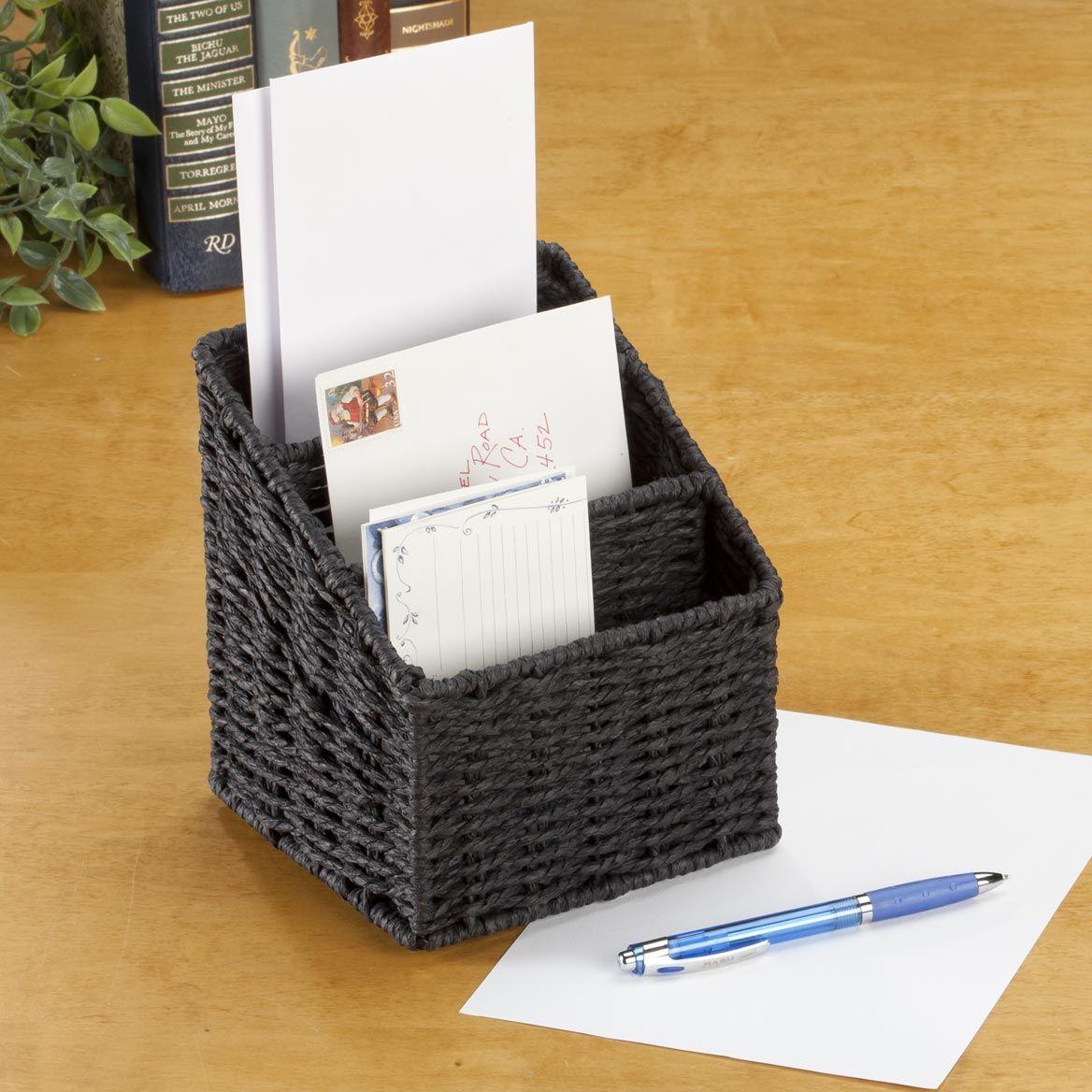 Wicker Letter Sorting Basket-359265